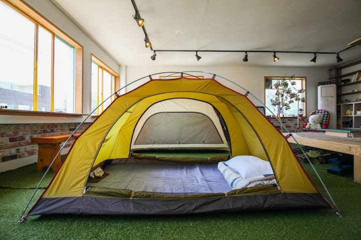 exotic camping concept guesthouse