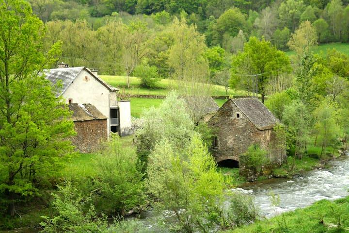 Ancien Moulin de Chipole pour 6 p. - St Geniez d'Olt - Appartamento