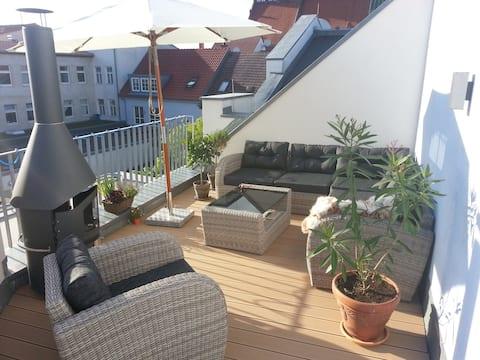 Wohnung mit großer Dachterrasse im ❤ Greifswalds