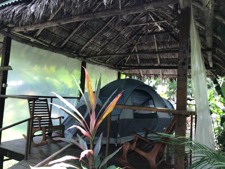 Palapa Hut Private Rancho and tent with Queen Bed