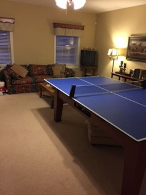 Ping Pong and Couch /TV