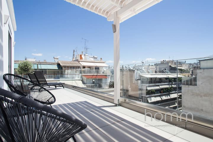 37.5m² homm Penthouse in Athens with 43m² Terrace