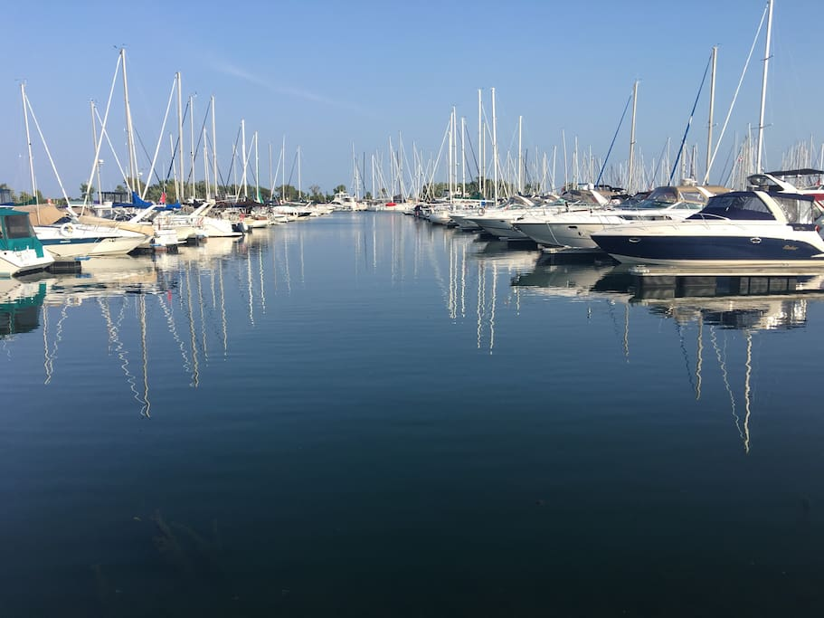 Lakefront Promenade Marina, 12 mins walk from the house