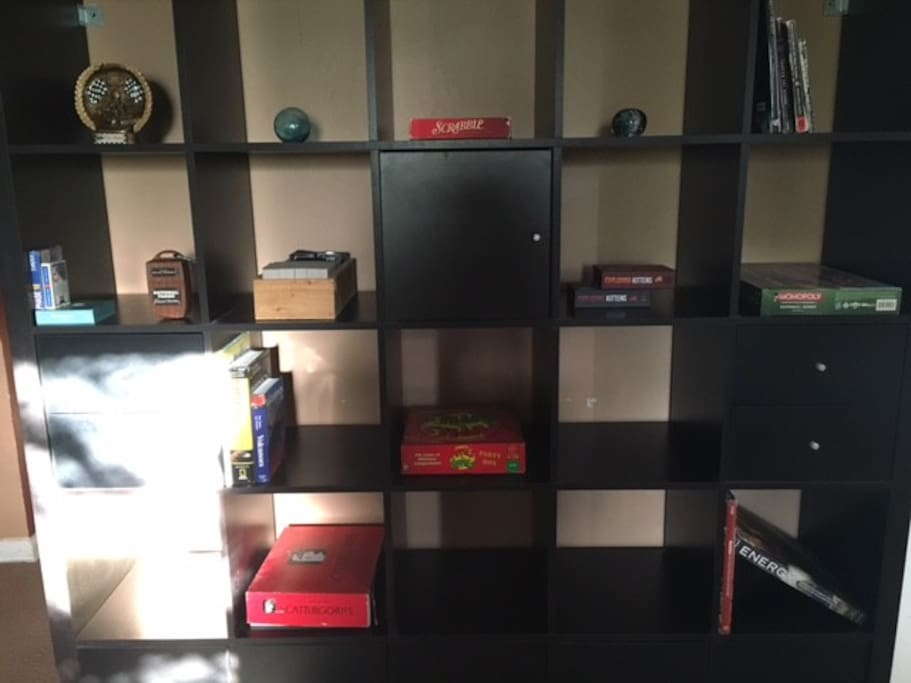 Game and book wall