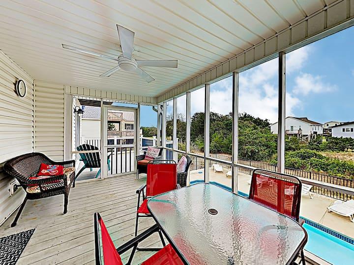 New Listing! Coastal Home w/ Pool, Walk to Beach