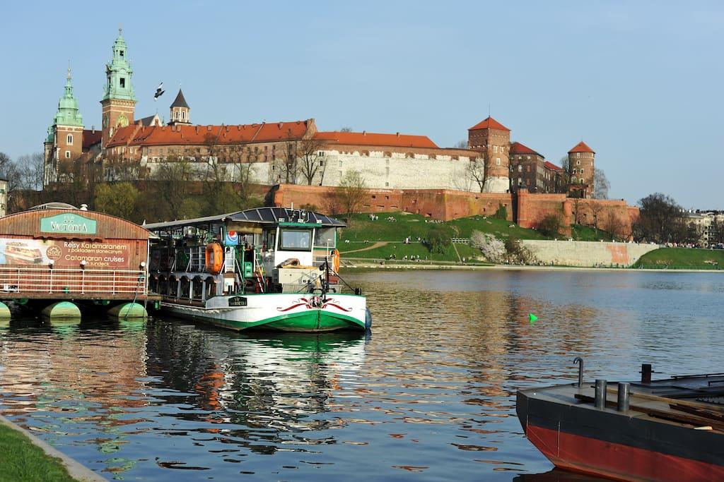 Wawel Castle and Wisla River