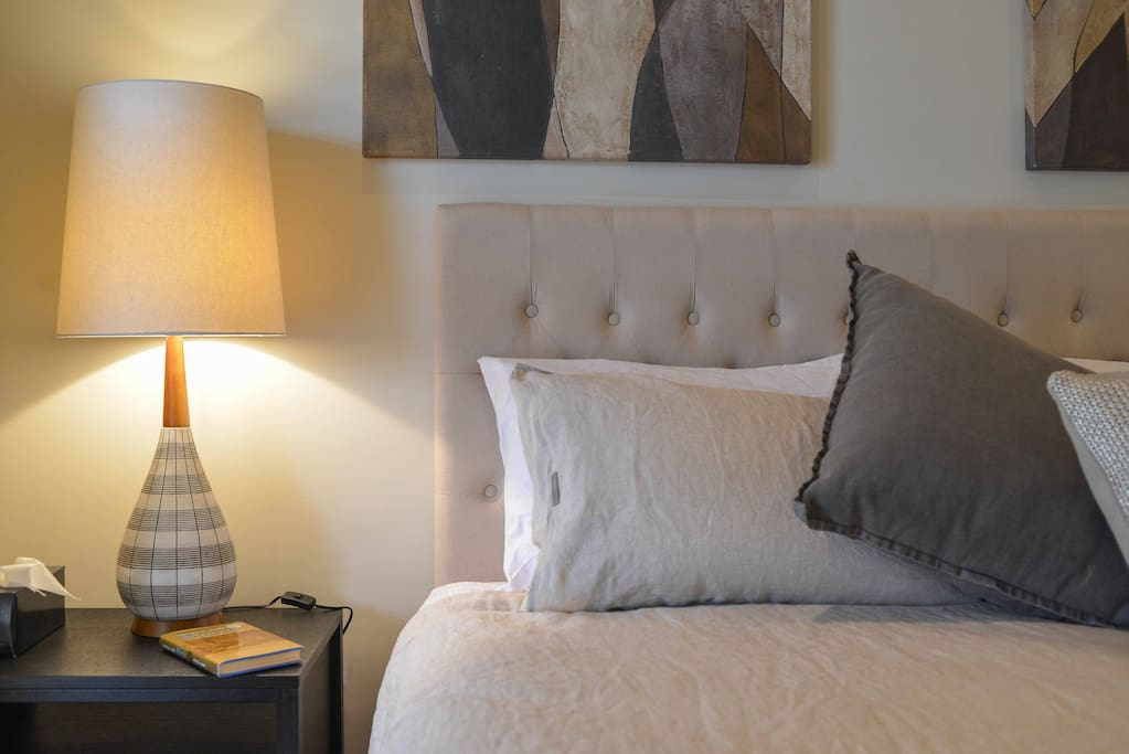 Spacious main   bedroom  with King-size bed & all new linen and furniture.