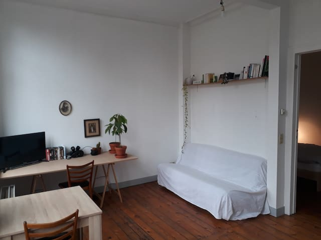 Bright flat near Midi Station / Porte de Hal