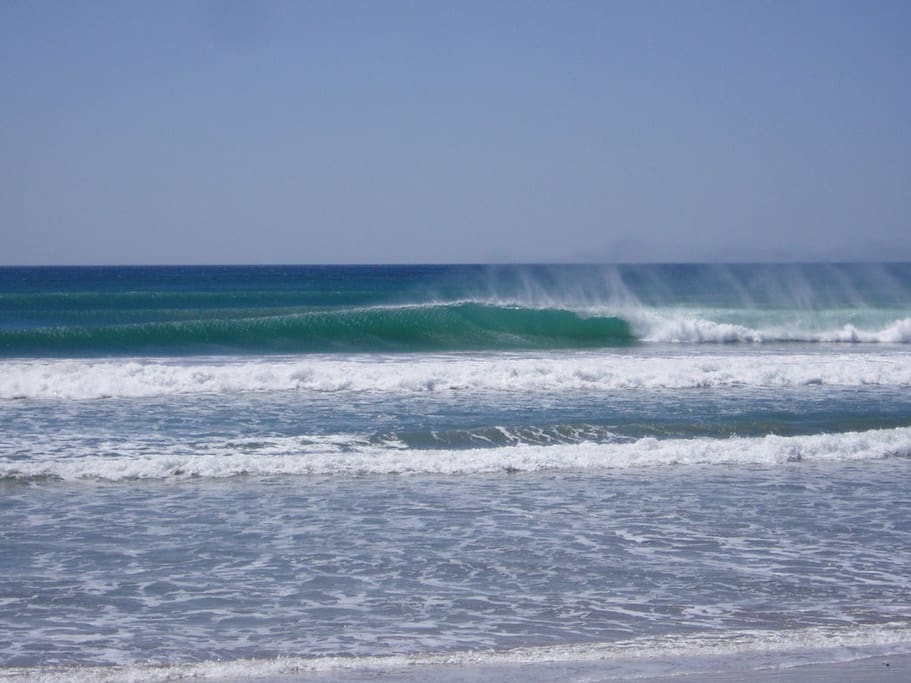 Waves out in front