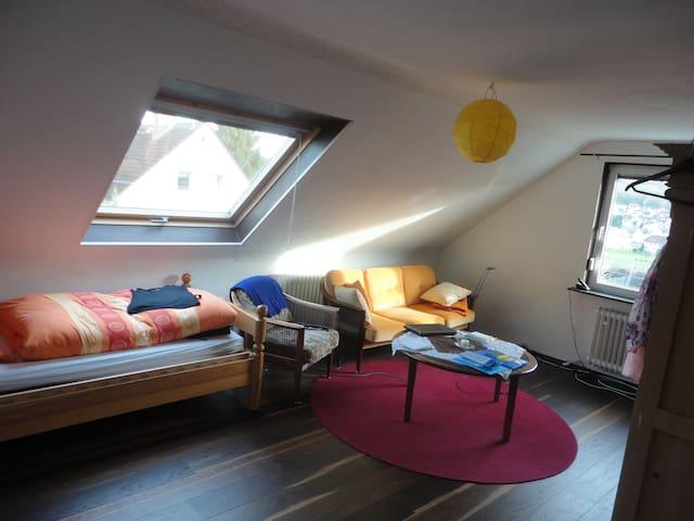 Zimmer im Grünen nah bei Wiesbaden - Niedernhausen - Huis