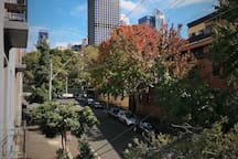 Balcony view to the west.  Hyde park, CBD