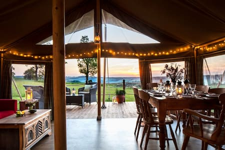 Lapwing:Beautiful safari tent in a tranquil meadow - West Meon - Tent