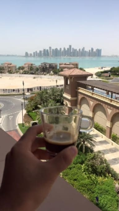 Enjoy an expresso with a gorgeous view of WestBay
