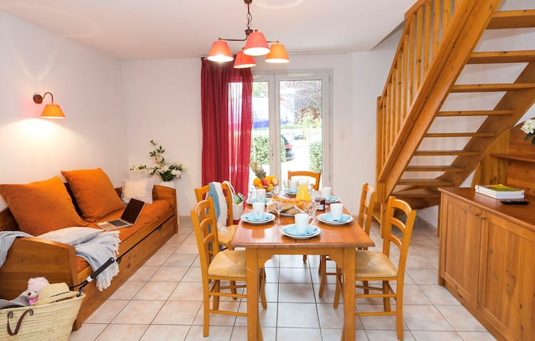 Enjoy homemade meals in the living area with seating for your group.