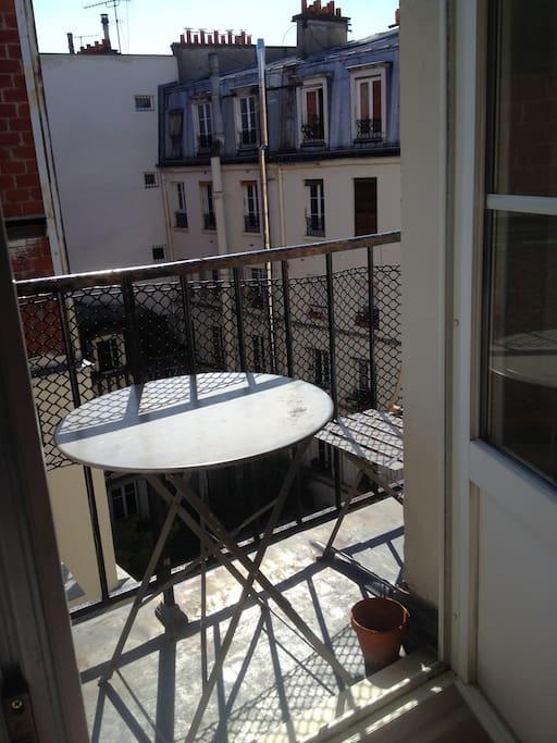 Balcony with sunlight