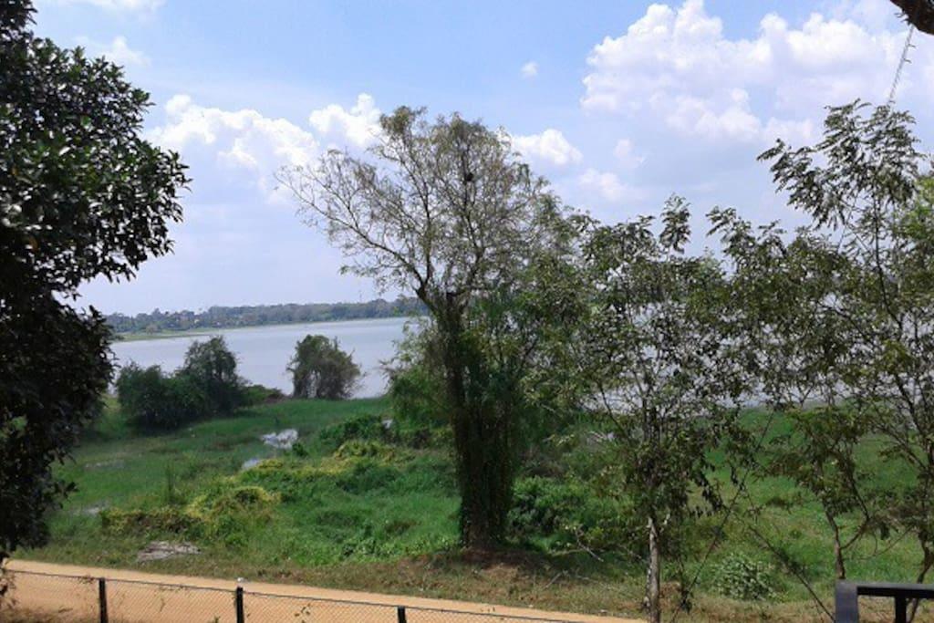 the view of Thissa Wewa lake