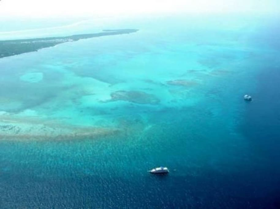 Another aerial view of the private island