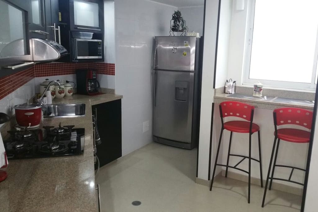 Nice kitchen, whit everything you need and laundry