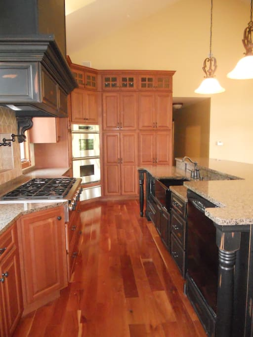 Gourmet Kitchen is huge, Granite counters- Beautiful.