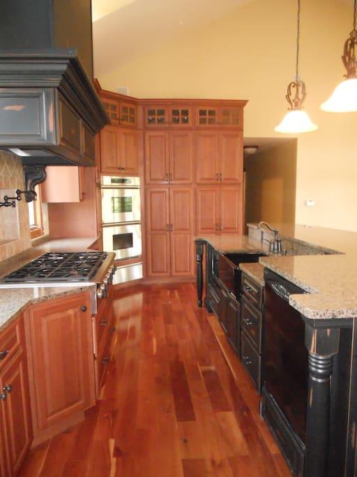 Gourmet Kitchen is huge, Granite counters- Beautiful.