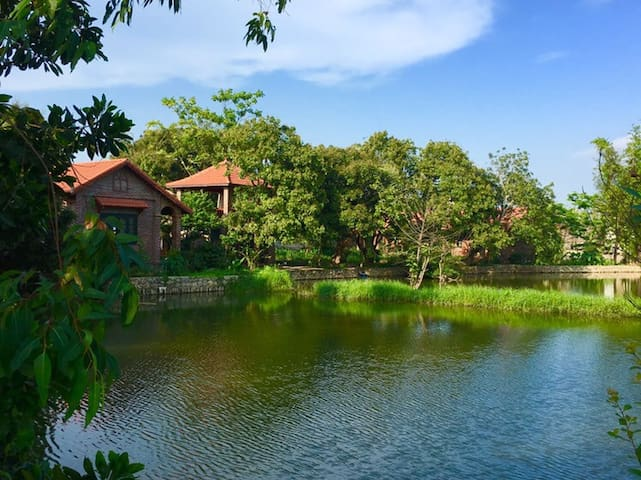Deluxe bungalow with wonderful views over the lake