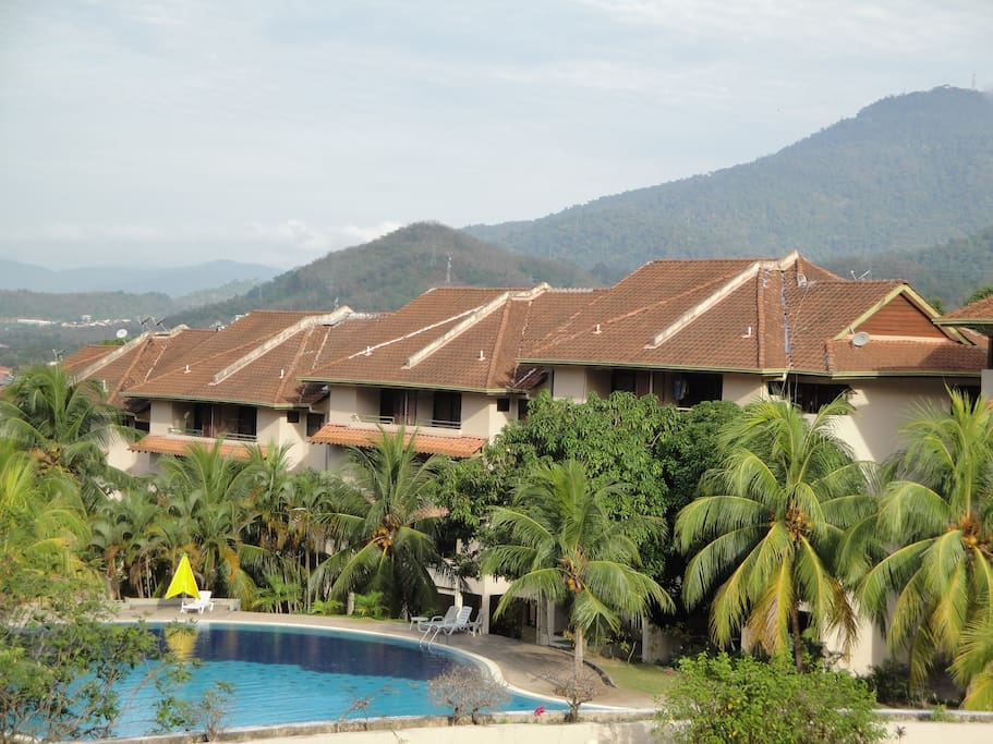Mountain view from our balcony/Chogm Villa residential complex