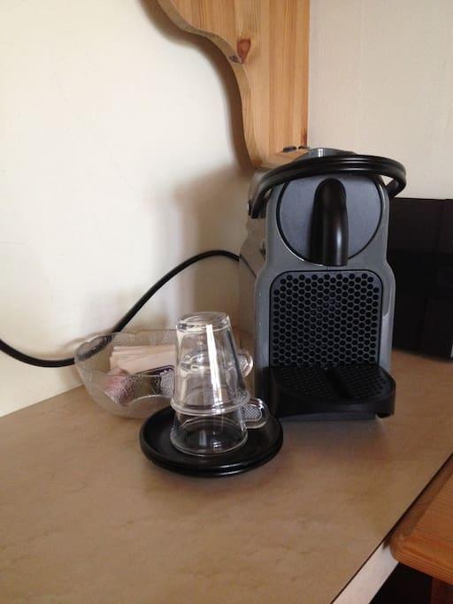 Kaffeemaschine in der Wohnung