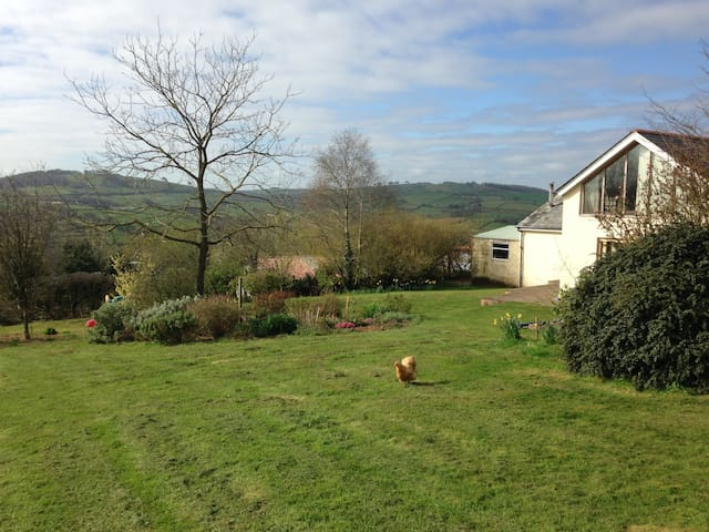 En suite double, lovely rural views - Cadeleigh - Huis