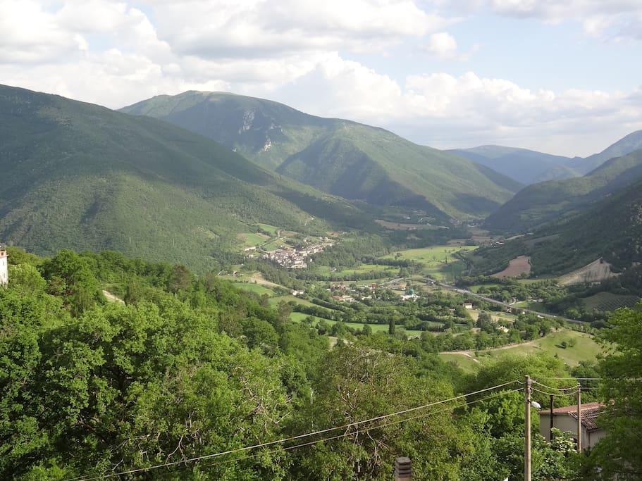 panorama breathtaking sulla Val Nerina