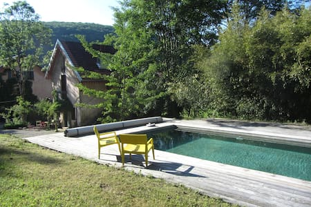 Charming cottage huge park w/ pool  - Besançon - Ev