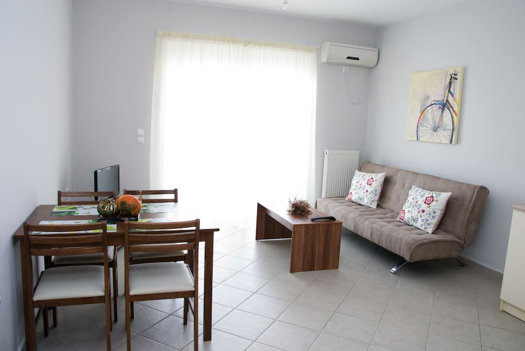 Sitting Area with Double Sofa Bed