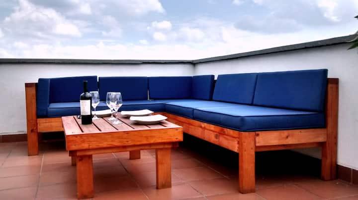 Beautiful modern flat with Roofdeck in San Antonio