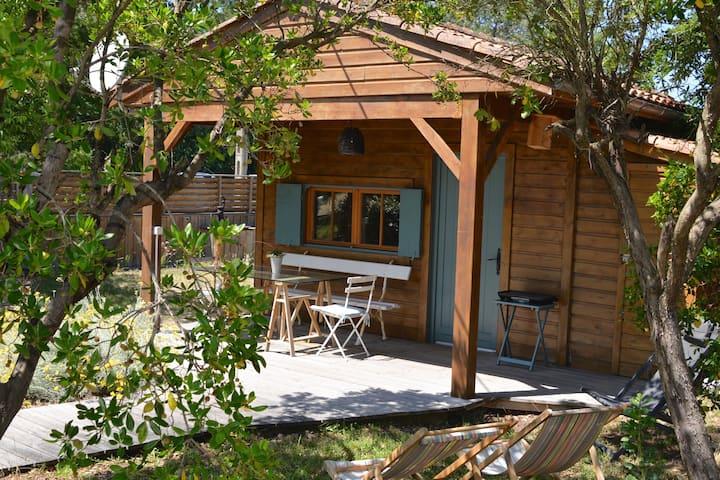 Small wooden house near the beach