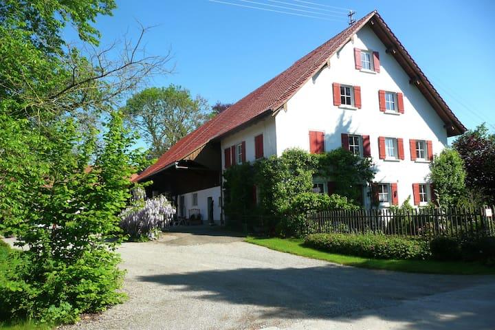 Oberschwäbisches Bauernhaus, idyllische Alleinlage