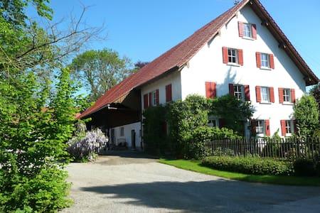 Oberschwäbisches Bauernhaus, idyllische Alleinlage - Bad Waldsee