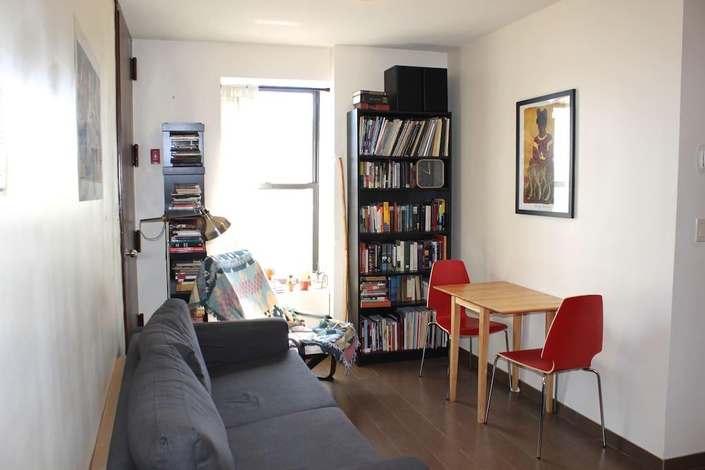 Room in modern, Brooklyn apartment.