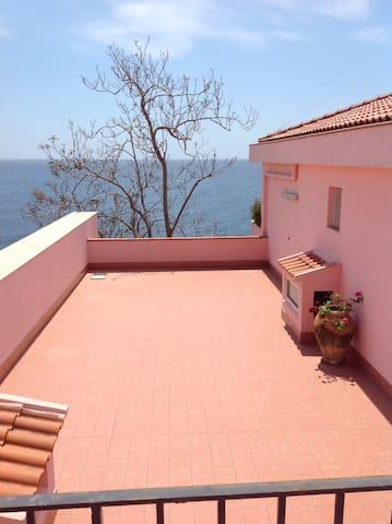 Casa Mare looking over Acireale Sea
