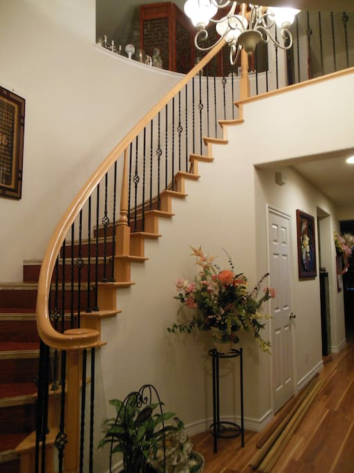 Staircase when you open the front door