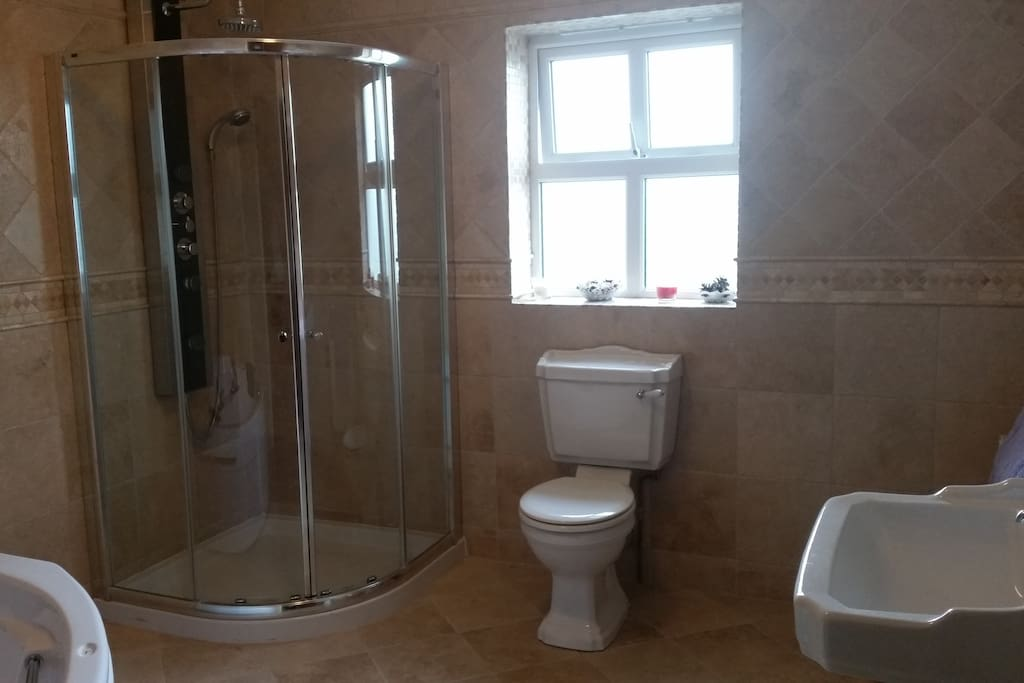Private Bathroom with Family Room