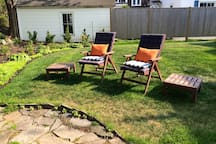 Relax and enjoy the private outdoor space.