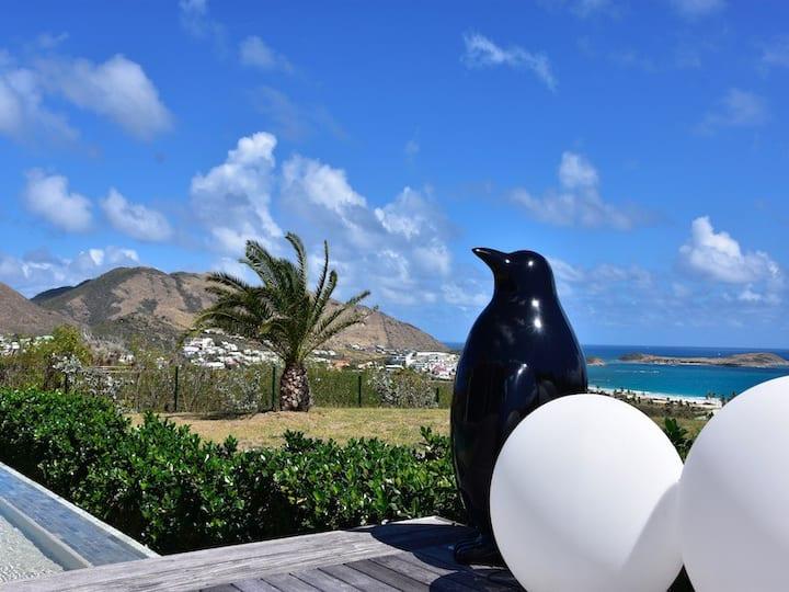 Villa Indigo Pearl : Vue et raffinement OrientBay