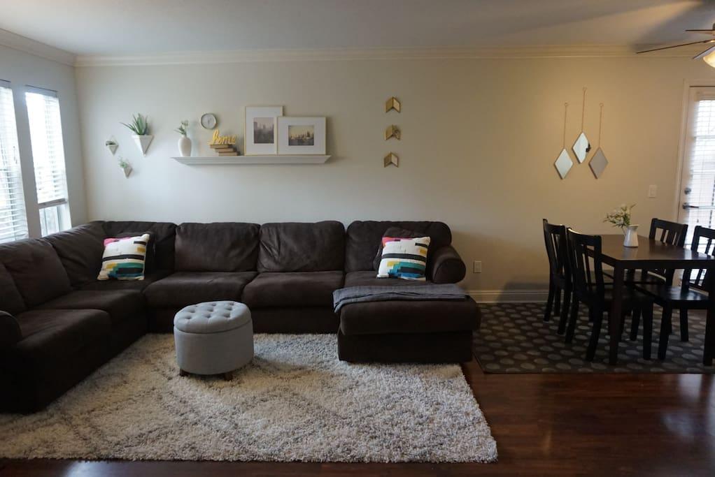 Comfy sectional sofa