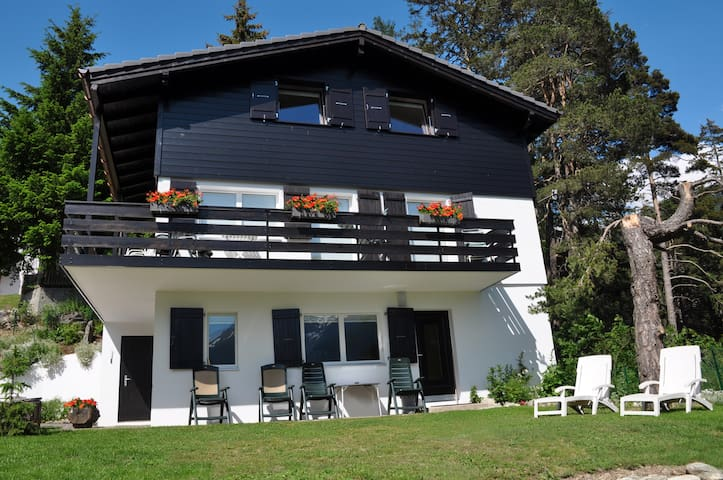 Chalet Lara with breath-taking view - Fiesch - Apartamento