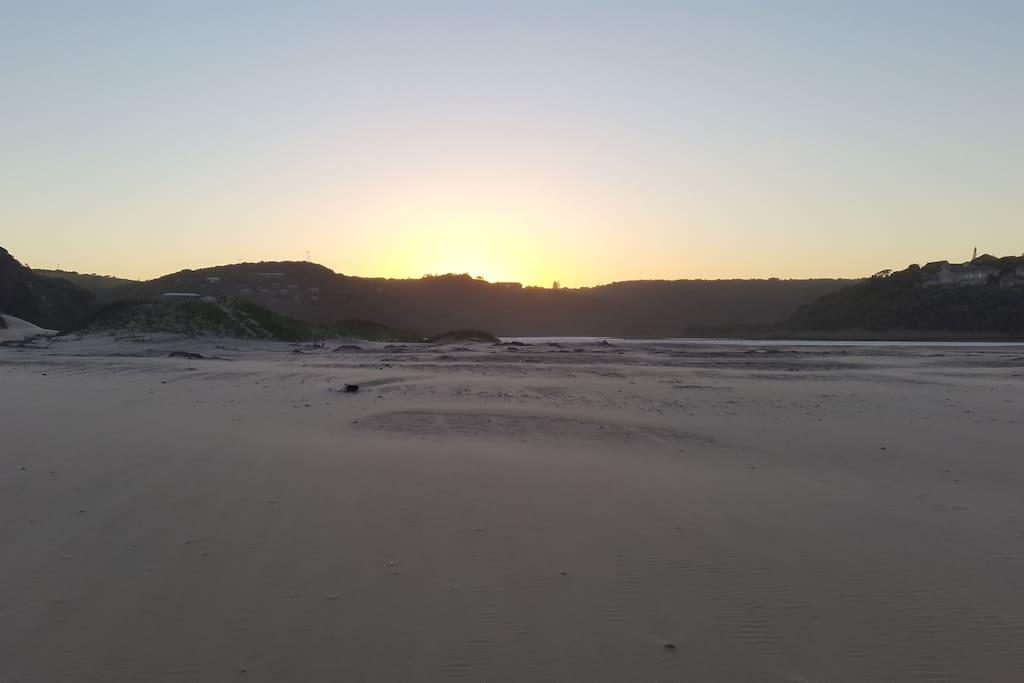 Sunset over Chintsa Beach