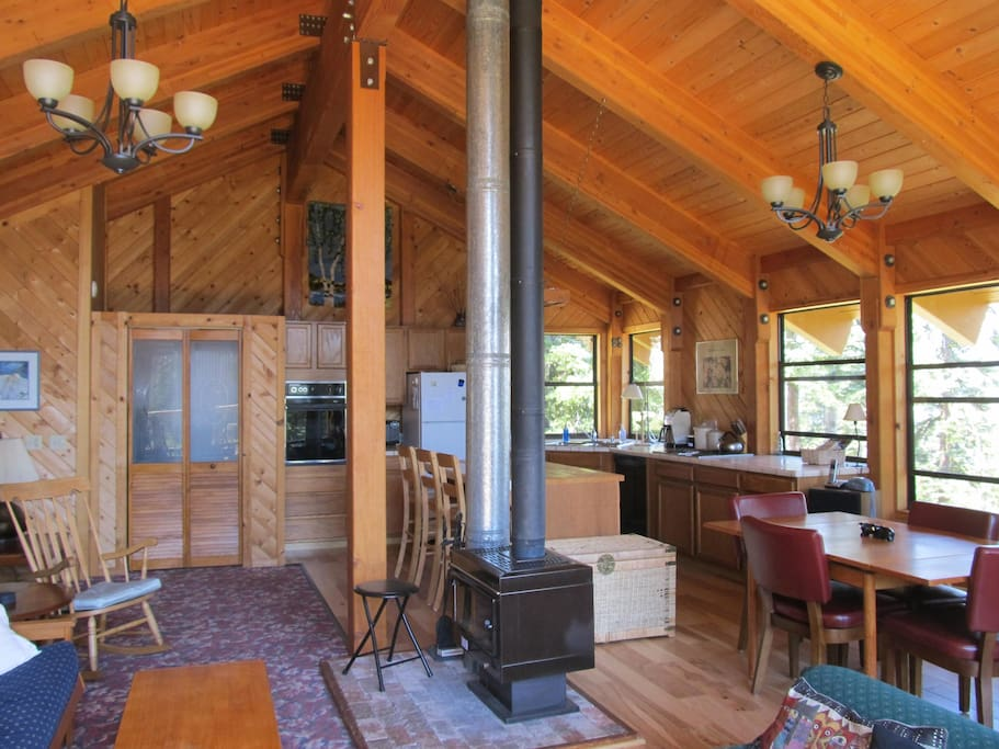 Great Room with Woodstove