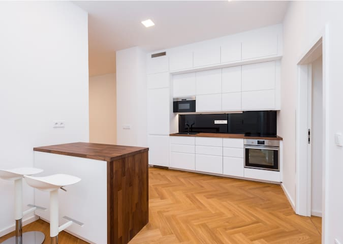 Lux Flat with shared Office Space