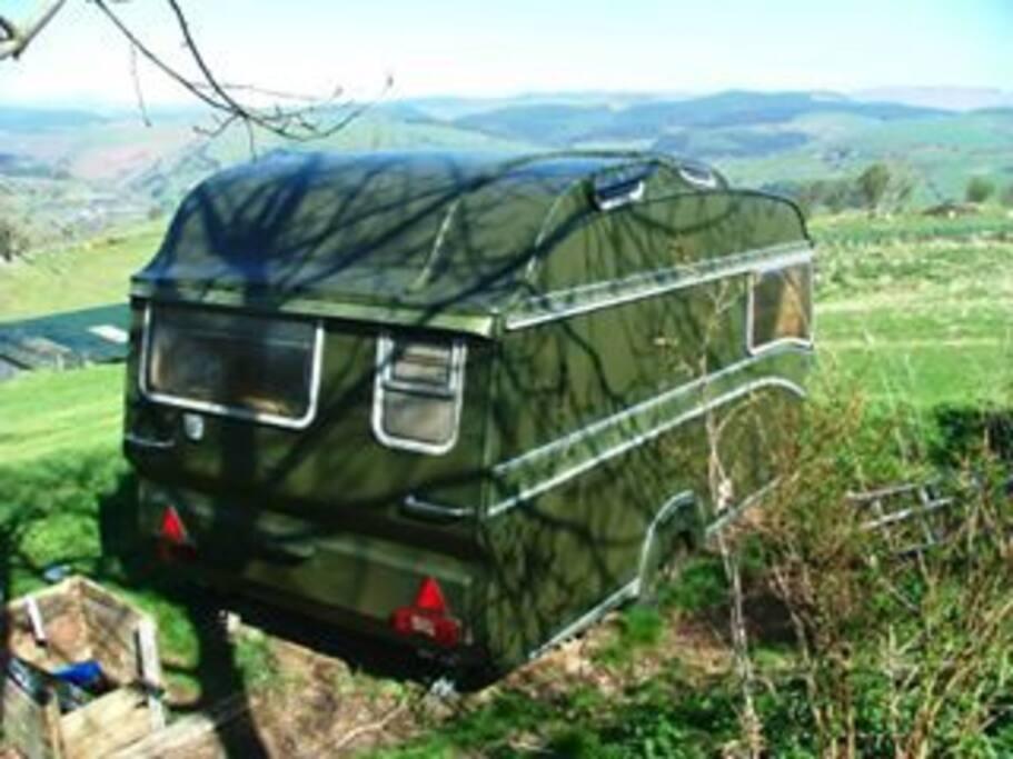 Back of caravan
