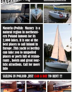 Sailing on lakes in Poland - Ruciane-Nida - Vaixell