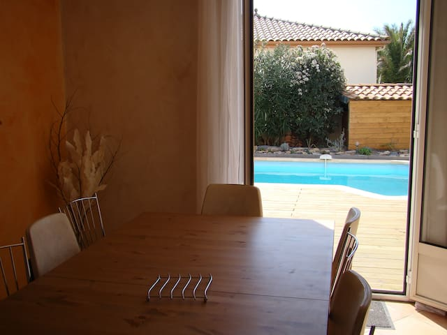 Villa 130m2 with air condit. 5 min from Herault - Canet