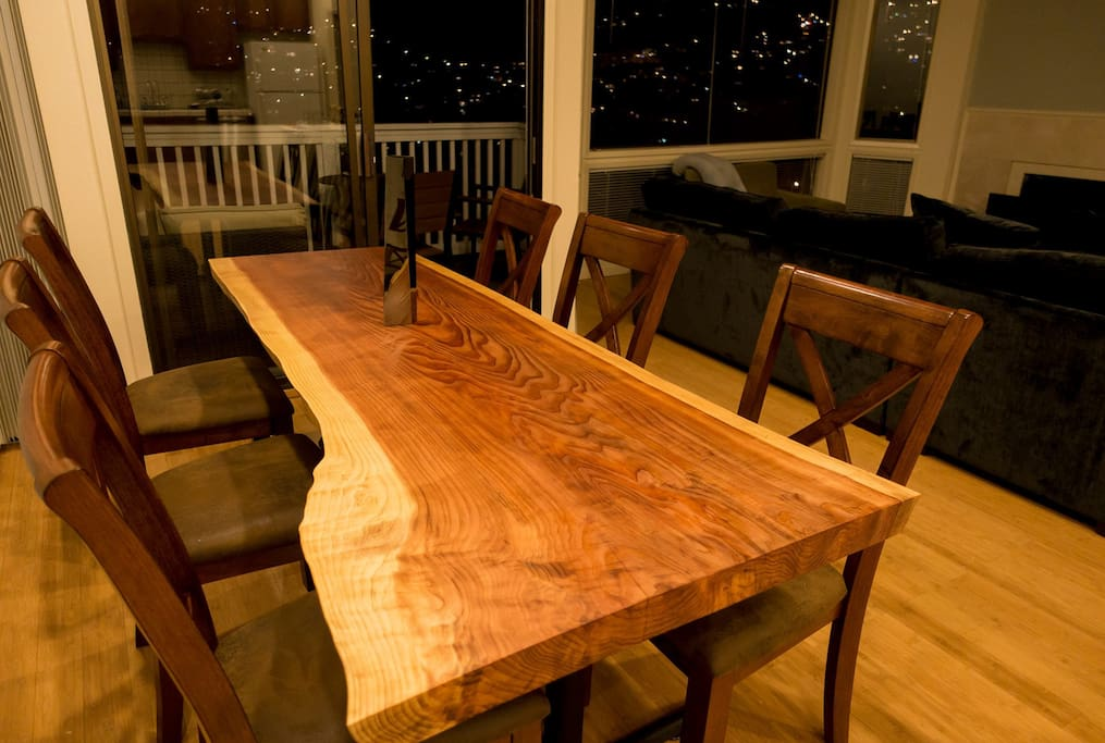 California Redwood dining table
